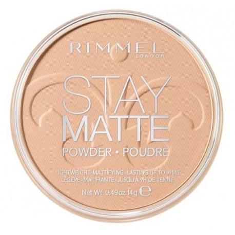 Rimmel Stay Matte Pressed Powder 005 Silky Beige długotrwały puder matujący