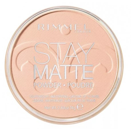Rimmel Stay Matte Pressed Powder 002 Pink Blossom długotrwały puder matujący