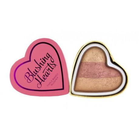 Makeup-Revolution-serduszko-wypiekany-róż-Peachy-Keen-Blushing-Hearts-drogeria-internetowa-puderek.com.pl