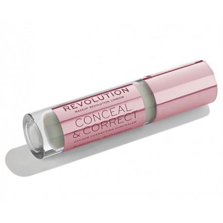 Makeup Revolution Conceal & Correct - Green - korektor korygujący
