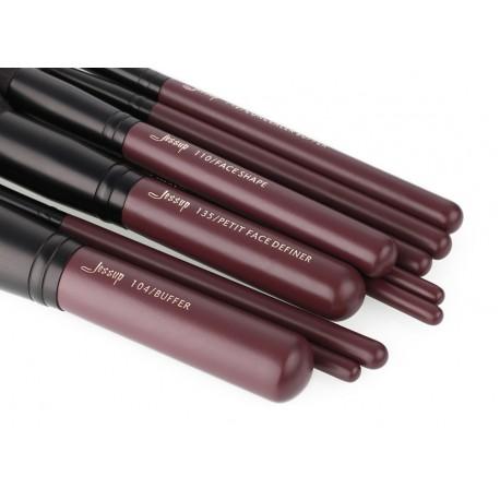 Jessup T259 Plum Queen Brush Set - zestaw 10 pędzli do makijażu