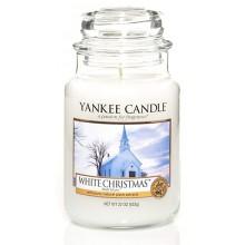 Yankee Candle White Christmas słoik duży świeca zapachowa
