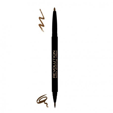 Makeup- Revolution-Brow-Dual-Ultra-Brow-Arch- Shape-Medium-dwustronna-kredka-do-brwi-drogeria-internetowa-puderek.com.pl