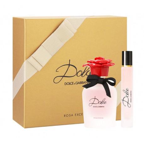 Dolce & Gabbana Dolce Rosa Excelsa - Zestaw spray EDP 30 ml + roll-on EDP 7,4 ml