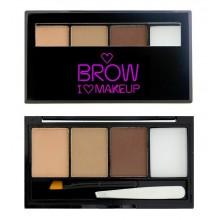 Makeup-Revolution-Brow-Kit-Fairest-of-them-all-zestaw-do-brwi-light-drogeria-internetowa-puderek.com.pl