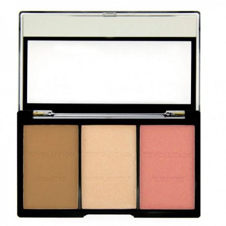 Makeup-Revolution-Ultra-Sculpt-and-Contour-C01-Fair-zestaw-do-konturowania-drogeria-internetowa-puderek.com.pl