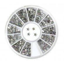 Karuzela z kryształkami do zdobienia paznokci - gwiazdki