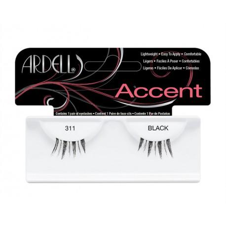 Ardell Accent 311 Black sztuczne rzęsy połówki