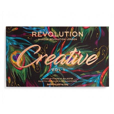 Makeup Revolution Creative Vol 1 Makeup Pigment Palette - paleta cieni do powiek
