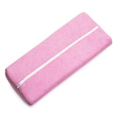 Poduszka pod dłoń do manicure z frotty - różowa