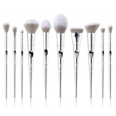 Jessup T261 Silver Fantasy Brush Set - zestaw 10 pędzli do makijażu