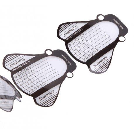 Formy do przedłużania paznokci z PVC - motylek - 500 szt.