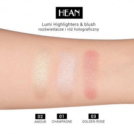 Hean Lumi Highlighters - 01 Champagne - rozświetlacz do twarzy i ciała