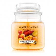 Yankee Candle Mango Peach Salsa słoik średni świeca zapachowa