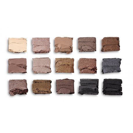 Makeup Revolution Reloaded - Smoky Neutrals - paleta 15 cieni do powiek