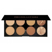 Makeup Revolution All About Bronze paleta 8 bronzerów Ultra Blush Palette