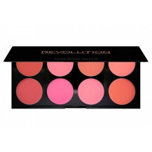 Makeup Revolution All About Cream paleta 8 kremowych róży Ultra Blush Palette