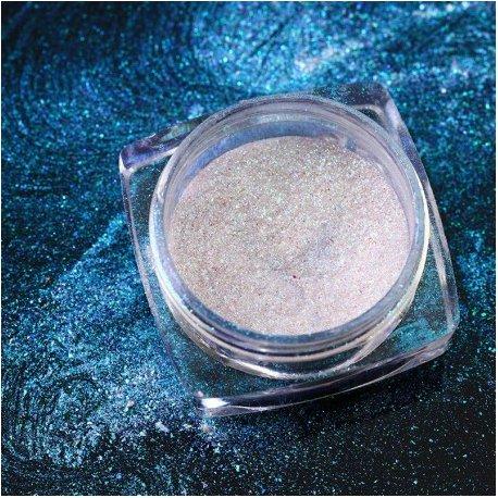 Mirror Chrome - 14 Opal Blue - pyłek do paznokci + aplikator - efekt kameleona