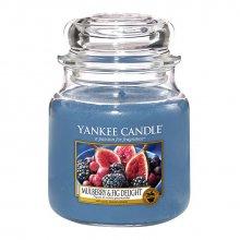 Yankee Candle Mulberry and Fig Delight słoik średni świeca zapachowa