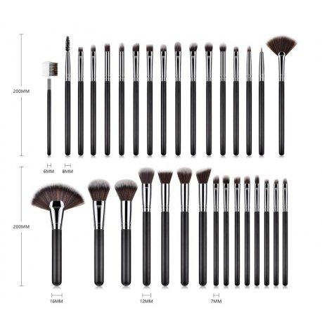 GlamRush Zestaw pędzli do makijażu - Professional Brush Set G250 - 32 szt. + etui/kosmetyczka