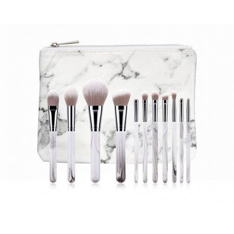 GlamRush Zestaw pędzli do makijażu - Ink Brush Set G130 - 11 szt. + etui/kosmetyczka