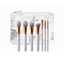 GlamRush-zestaw-pędzli-do-makijażu-White -Rose-Gold-Brush-Set-G110-drogeria-internetowa-puderek.com.pl