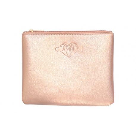 GlamRush Kosmetyczka / etui na pędzle do makijażu - Rose Gold (różowa)