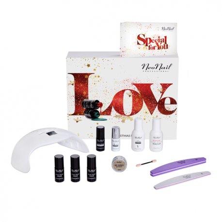 Neonail Love Christmas Set - zestaw prezentowy z lampą LED 18W/36