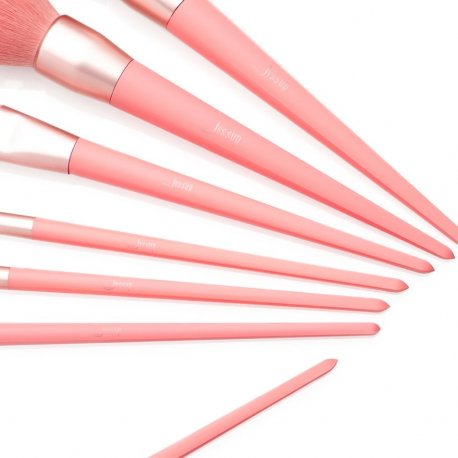 Jessup T270 Living Coral Brush Set - zestaw pędzli do makijażu 7 szt.