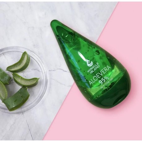Miracle Island Aloe Vera 95% - żel aloesowy 250 ml