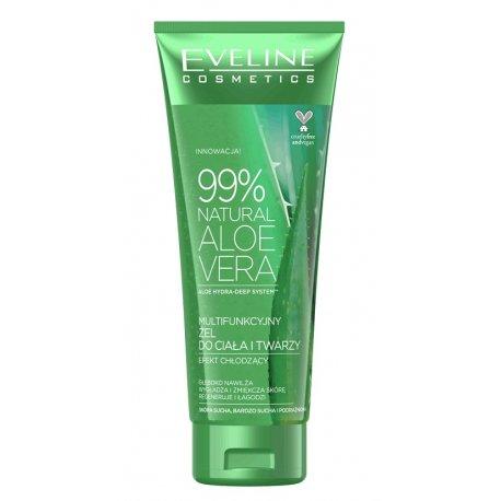 Eveline 99% Natural Aloe Vera - żel aloesowy do twarzy i ciała 250 ml