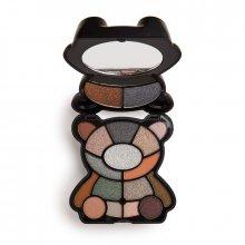 Makeup Revolution Teddy Bear Eyeshadow Palette - Jett - paleta cieni do powiek