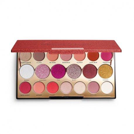 Makeup Revolution Precious Stone Shadow Palette - Ruby Crush - paleta cieni do powiek