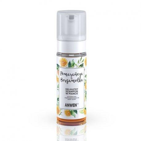 Anwen - Pianka szampon do normalnej i przetłuszczającej się skóry głowy - Pomarańcza i Bergamotka 170ml