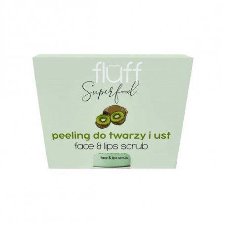 Fluff - Peeling do twarzy i ust - Kiwi - 80g