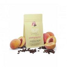 Fluff - Suchy peeling kawowy do ciała - Brzoskwinia - 100g