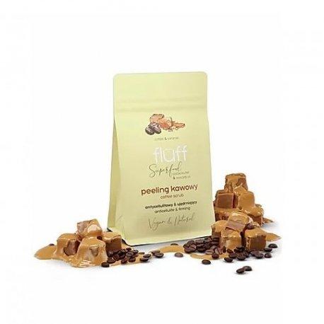 Fluff - Suchy peeling kawowy do ciała - Karmel - 100g