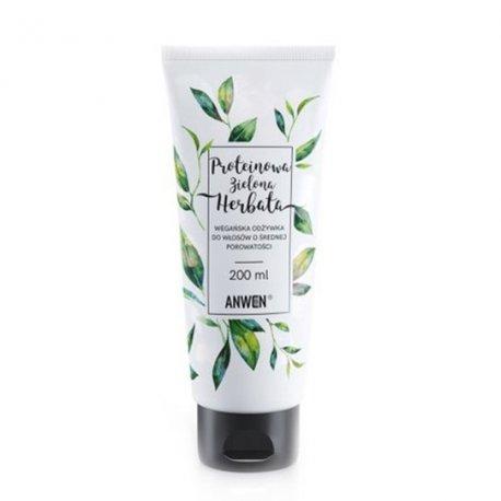 Anwen Proteinowa Zielona Herbata - odżywka do włosów o średniej porowatości 200 ml