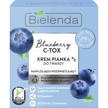 Bielenda - Blueberry C-TOX - Krem Pianka do twarzy nawilżająco-rozświetlający 40g