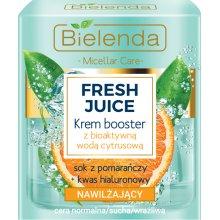 Bielenda - Fresh Juice - Nawilżający krem booster z bioaktywną wodą cytrusową - sok z pomarańczy i kwas hialuronowy 50ml