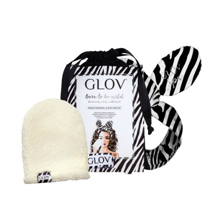 Glov Born To Be Wild - Zestaw rękawica do demakijażu + opaska do włosów