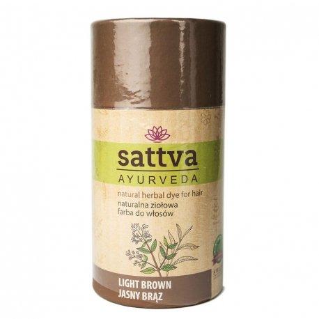 Sattva Henna - Light Brown - Naturalna ziołowa farba do włosów 150g
