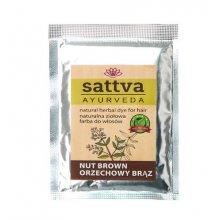Sattva Henna Sac Nut Brown - ziołowa farba do włosów (saszetka)