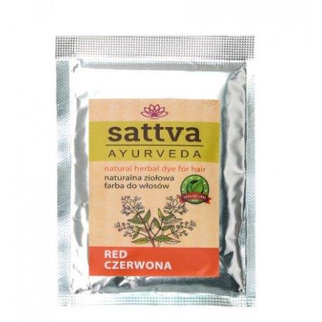 Sattva Henna Sac - Red - ziołowa farba do włosów (saszetka)