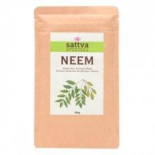 Sattva Herbal Neem Powder - Ziołowa maseczka do włosów i twarzy 100 g