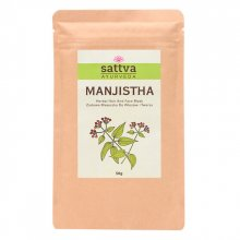 Sattva Herbal Manjistha Powder - Ziołowa maseczka do włosów i twarzy 50g