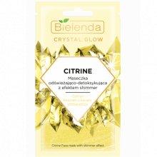 Bielenda - Crystal Glow - Citrine maseczka odświeżająco- detoksykująca z efektem shimmer 8g