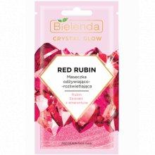 Bielenda - Crystal Glow - Red Rubin maseczka odżywiająco- rozświetlająca 8g