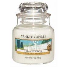 Yankee-Candle-Clean-Cotton-słoik-mały-świeca-zapachowa-drogeria-internetowa-puderek.com.pl