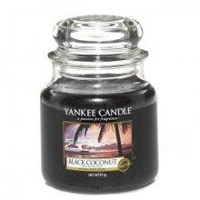 Yankee Candle Black Coconut słoik średni świeca zapachowa